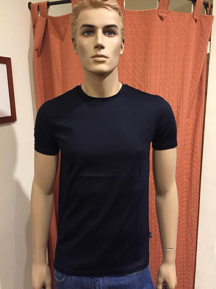 HUGO BOSS T-SHIRT TESSLER 100 480 BLU SCURO